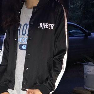 Justin Bieber purpose tour bomber jacket